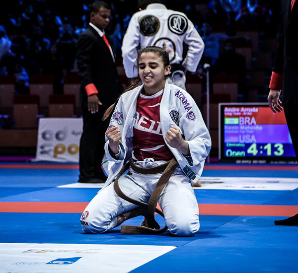Amal Abjahid at competition