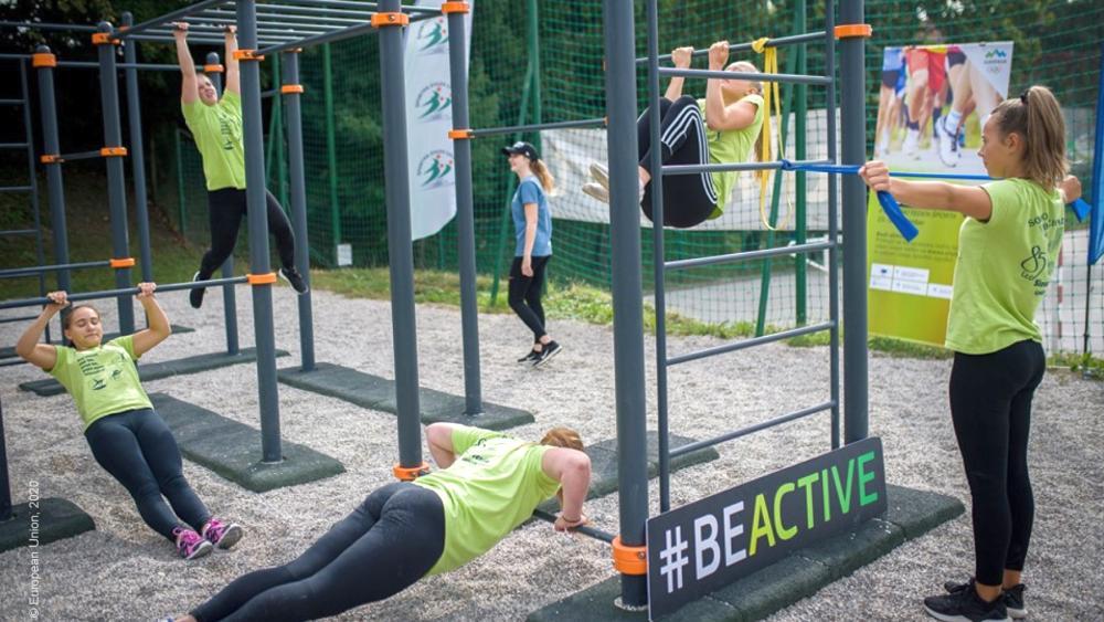 Children in Be Active activity