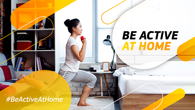 #BeActiveat home cover picture and logo