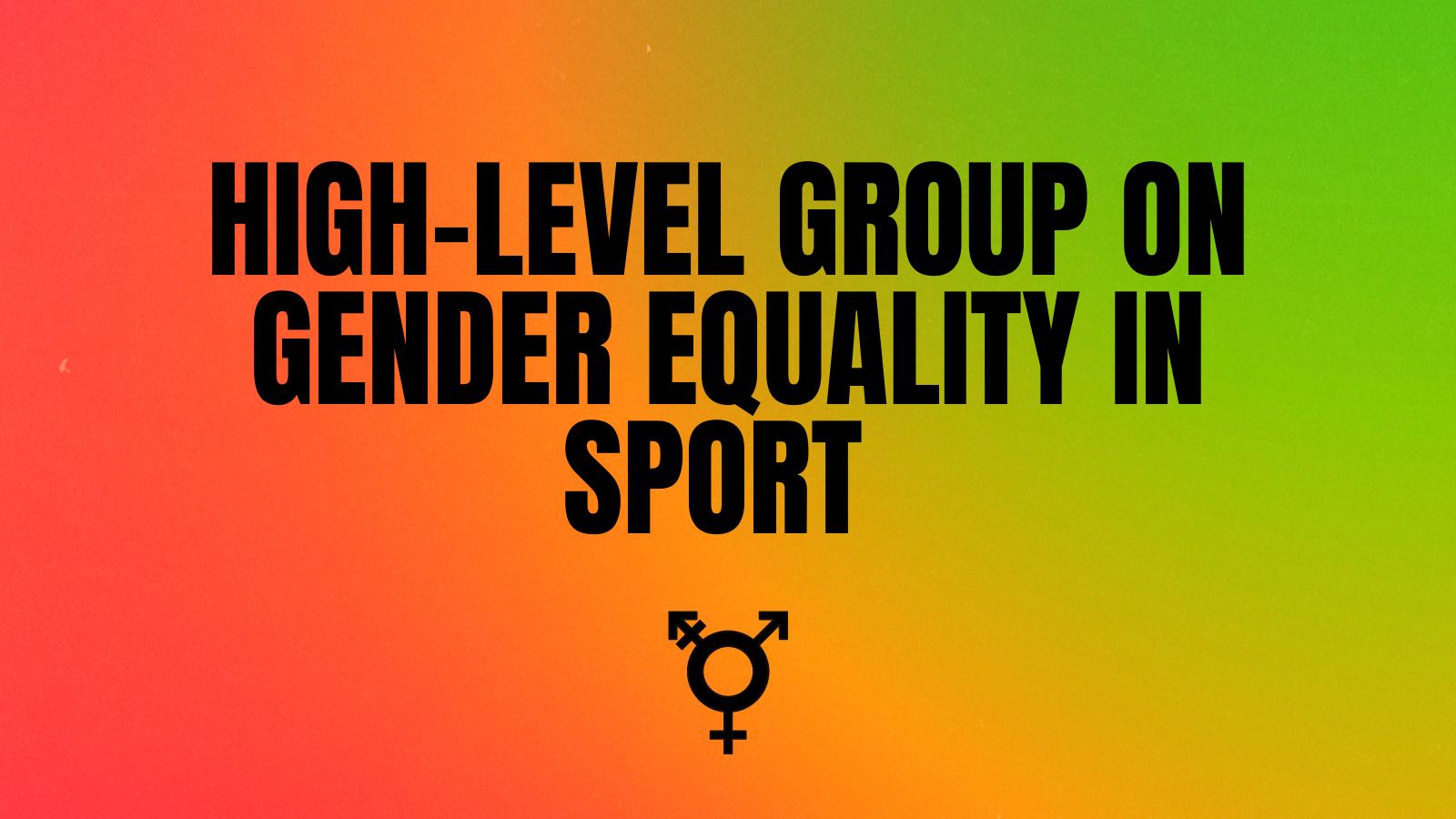 Gender equality in sport banner