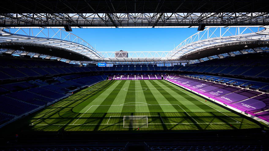picture of empty football stadium
