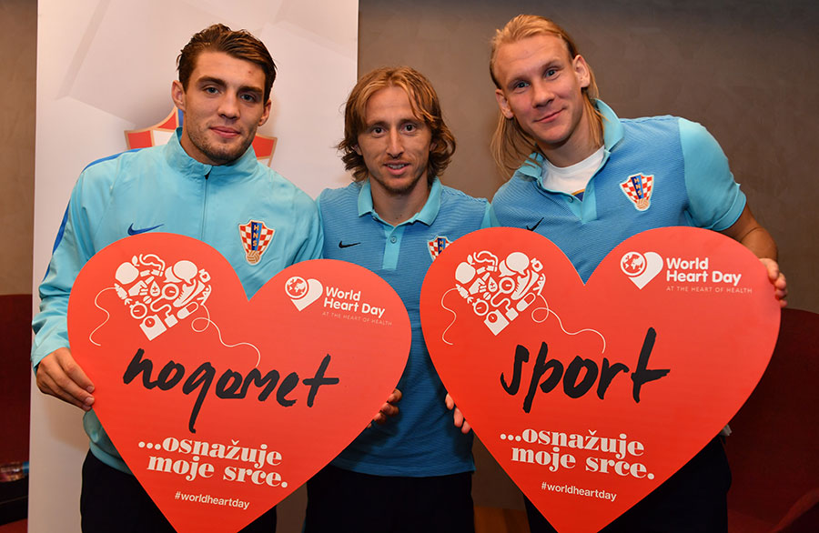 The football stars supporting World Heart Day